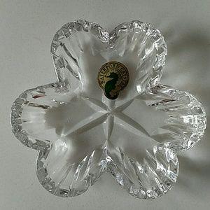 "Waterford Crystal Shamrock Display Dish 4x5/8"""